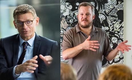 Lars Frelle-Petersen og Greg Godbout mødes til debat om den digitale diskurs for den offentlige sektor.