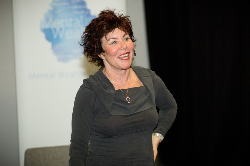 Ruby Wax sharing her experience of Mindfulness at the Festival