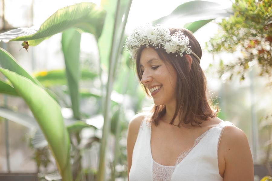 Couronne fleur mariage