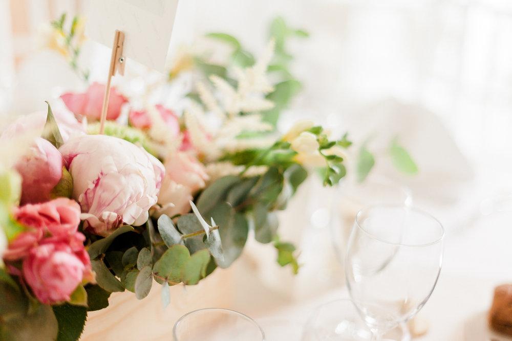 fleurs decoration de table mariage chic yvelines