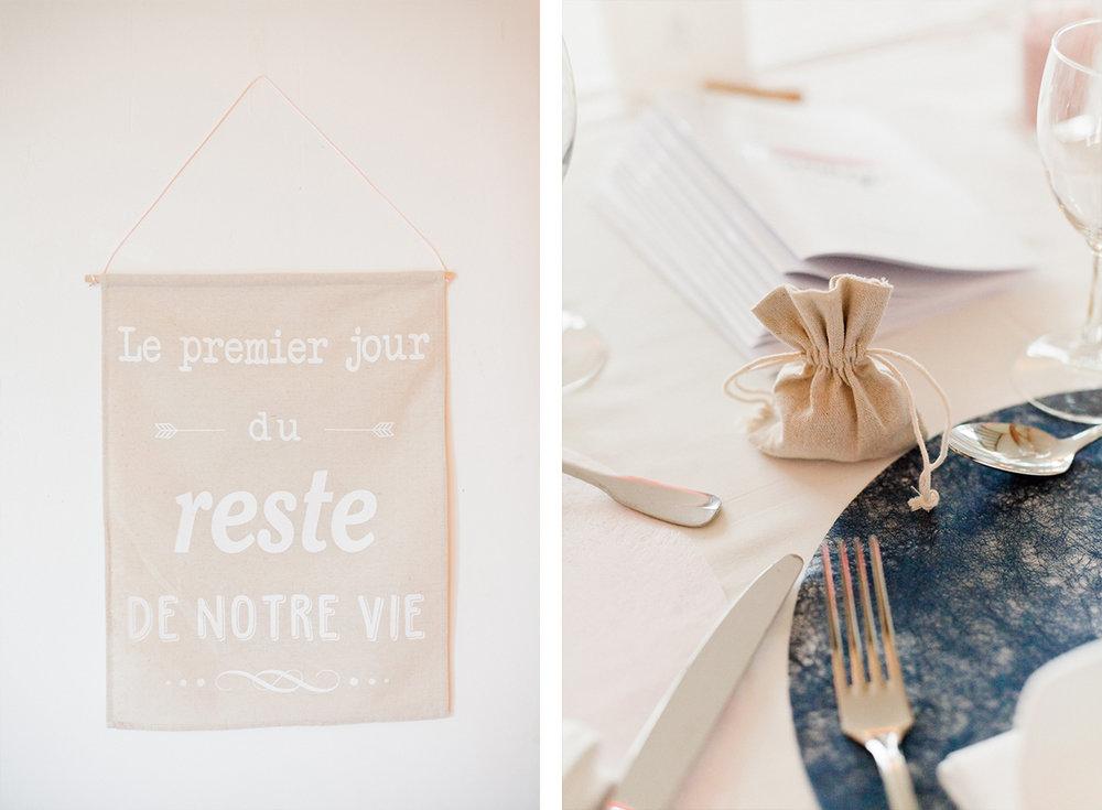 detail deco de table mariage chic