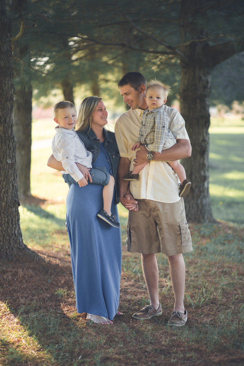 Ashley, Brian, Chase, and Brady made up this cute little family. We did this family session in Kingsville, Maryland at Mt. Vista Park.