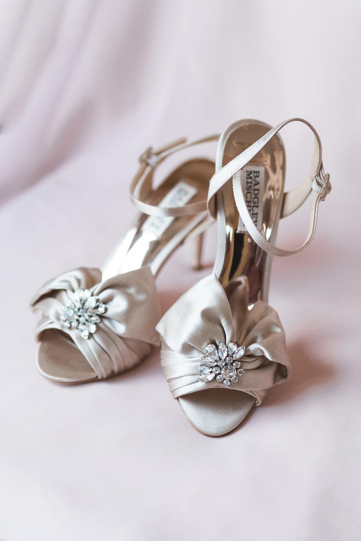 Badgely Mischka wedding shoe