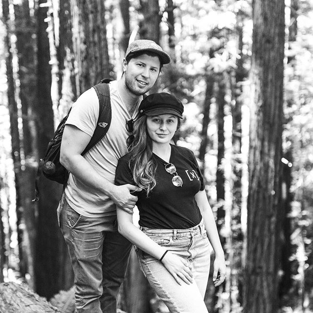 Hello this is me, and Andrew! That time we hiked among the redwoods, and apparently I was a bikerlady for a split second. That is what San Francisco will do to you, I guess.