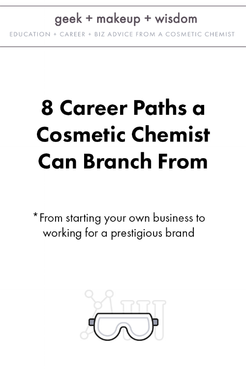 career paths cosmetic chemist