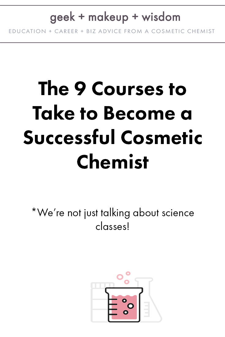 The 20 Courses to Take to Become a Successful Cosmetic Chemist ...