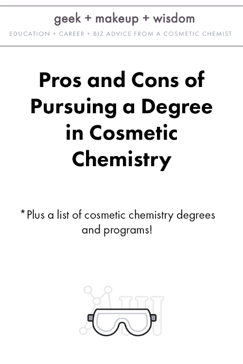 cosmetic chemistry degree