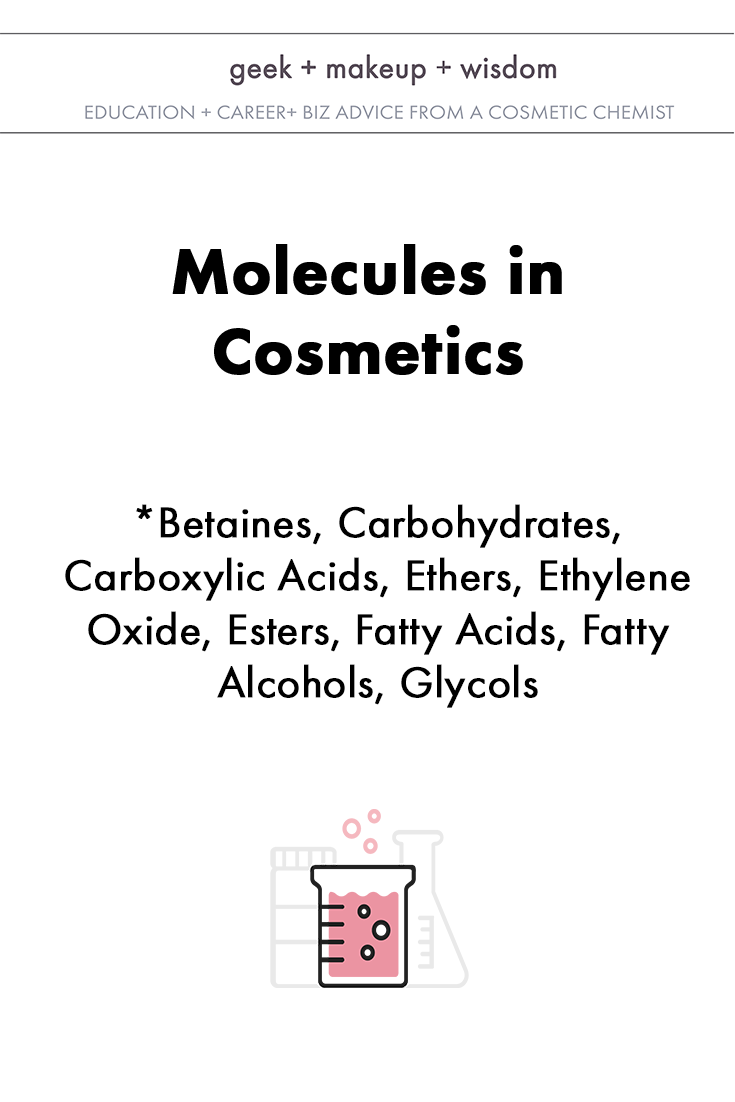 molecules in cosmetics day 2