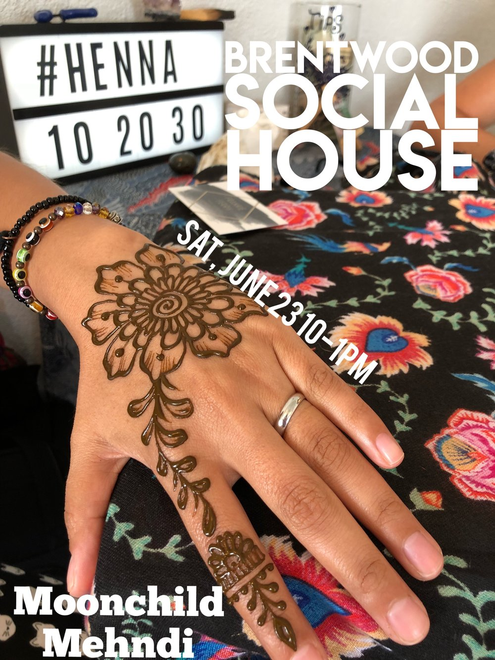 Moonchild Mehndi henna at Brentwood Social House