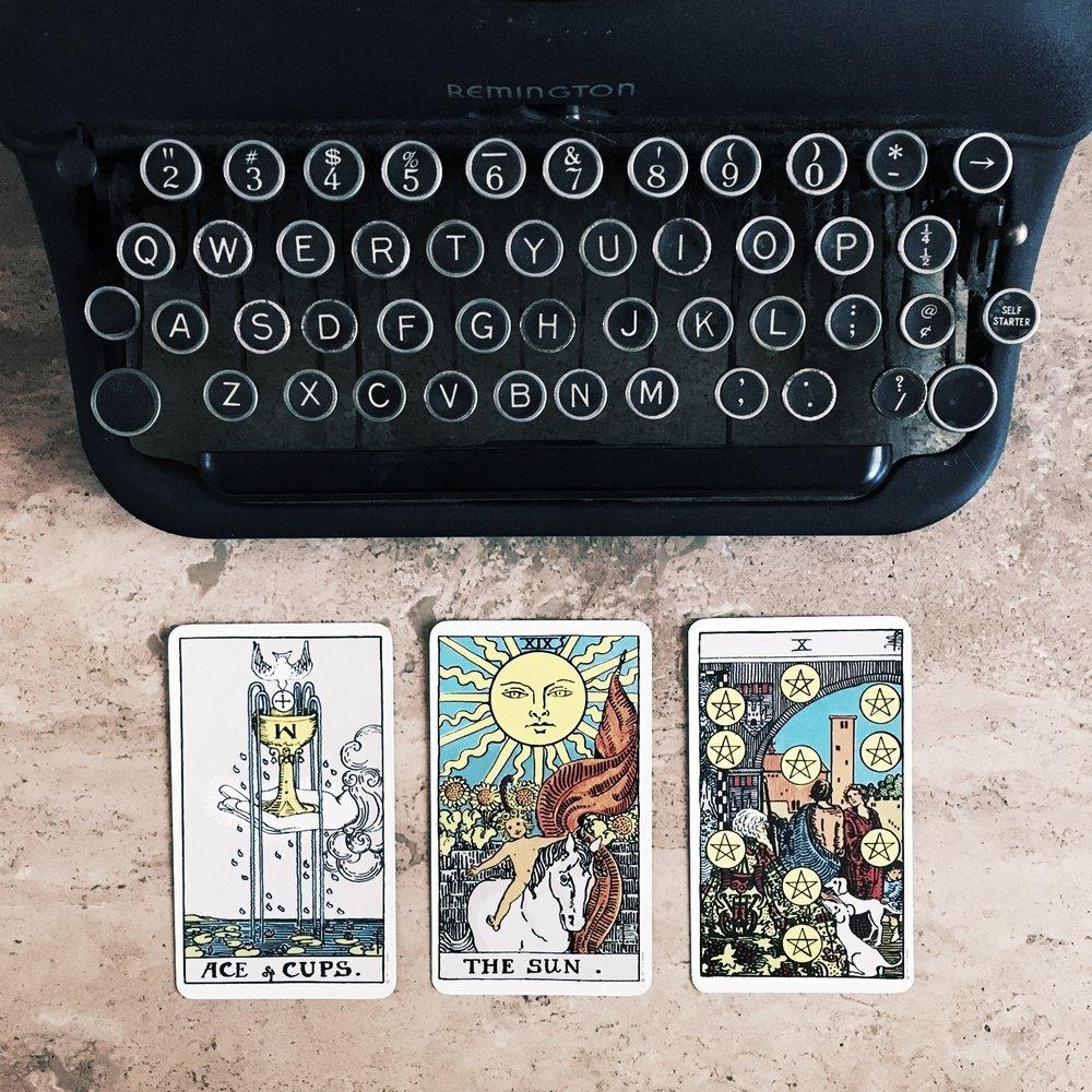 Typewriter Tarot at Brentwood Social House