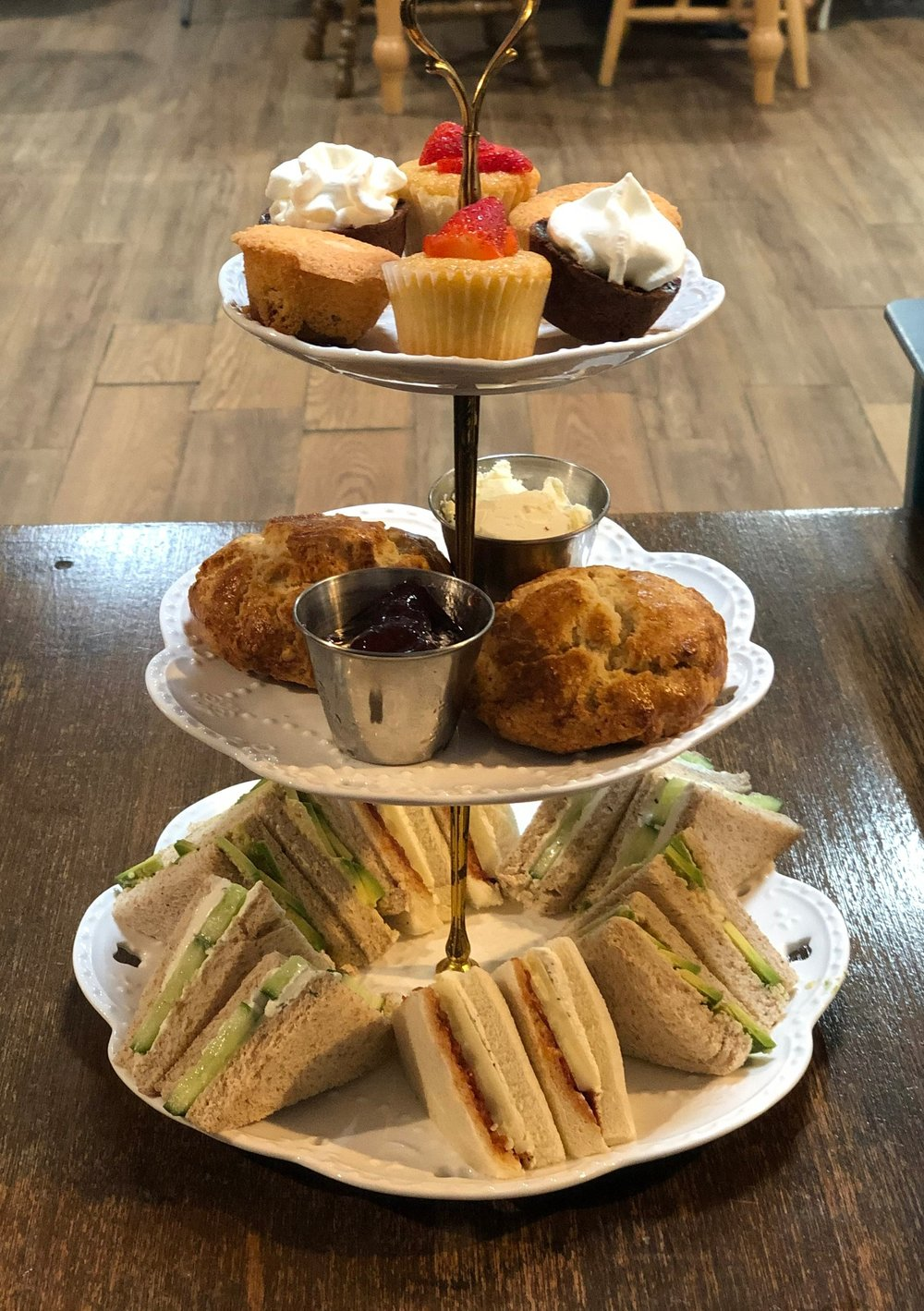 3-tiered stand for Afternoon Tea at Brentwood Social House