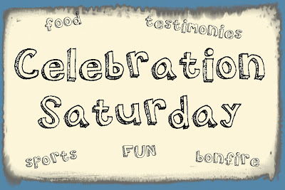 Celebration Saturday at Living Waters Bible Camp -food,testimonies,bonfire,fun,sports