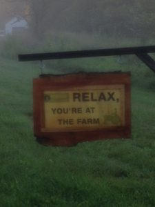 I smile every time I ride past this sign at Rodale Farm.
