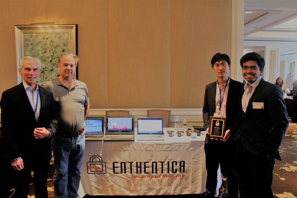 Team at Enthentica Booth , IEEE HOST 2017 conference, Mclean, VA