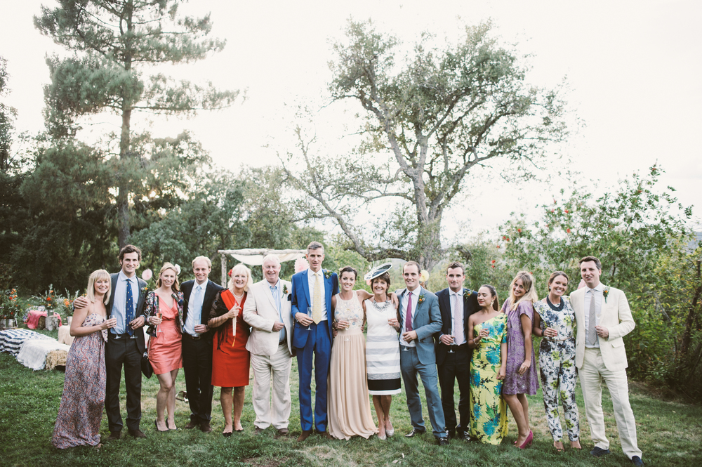 Wedding party, Finca Buenvino, Aracena