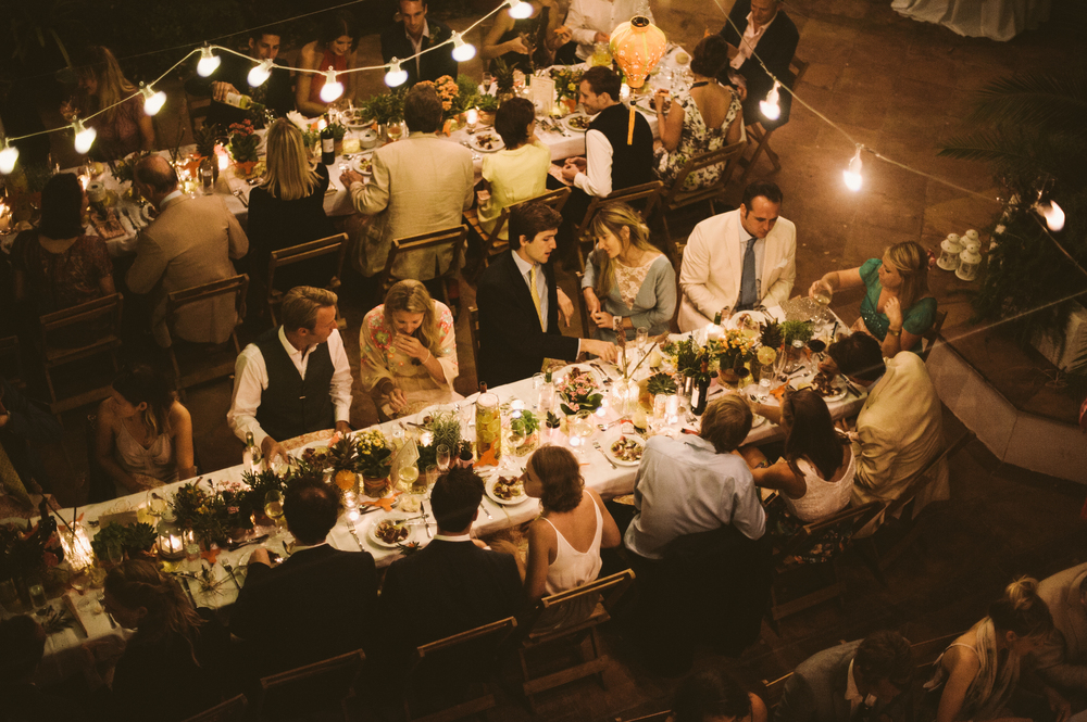 Wedding dinner, near Seville, Spain
