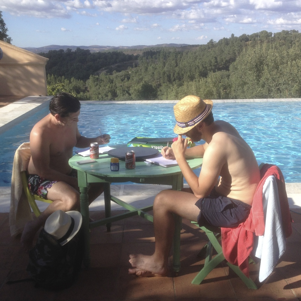 Writing by the pool, write it down writing retreats