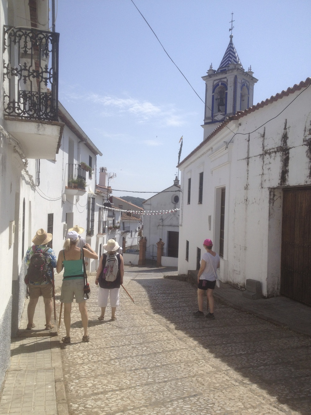 Linares, Huelva, writing course walk