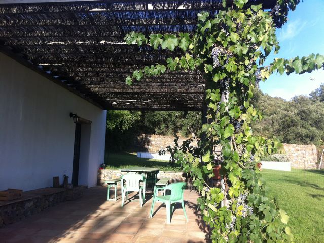 The terrace, Casita de Platero self-catering cottage