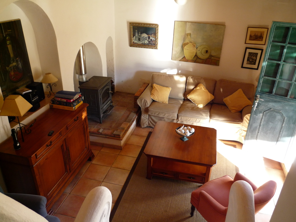 The living room, Casita de Platero self-catering cottage