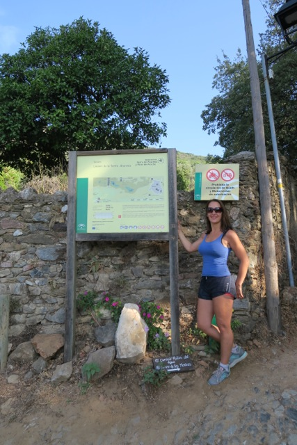 Hiking during fitness holiday, Andalusia