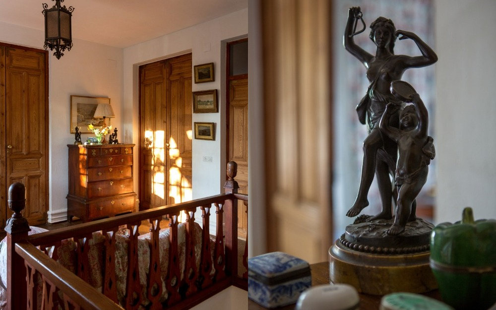 The upstairs hall, Buenvino country house, southern Spain