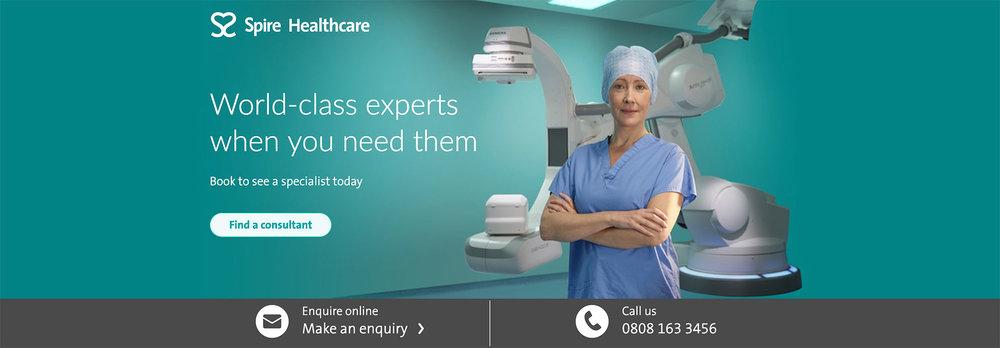 Spire Healthcare Campaign