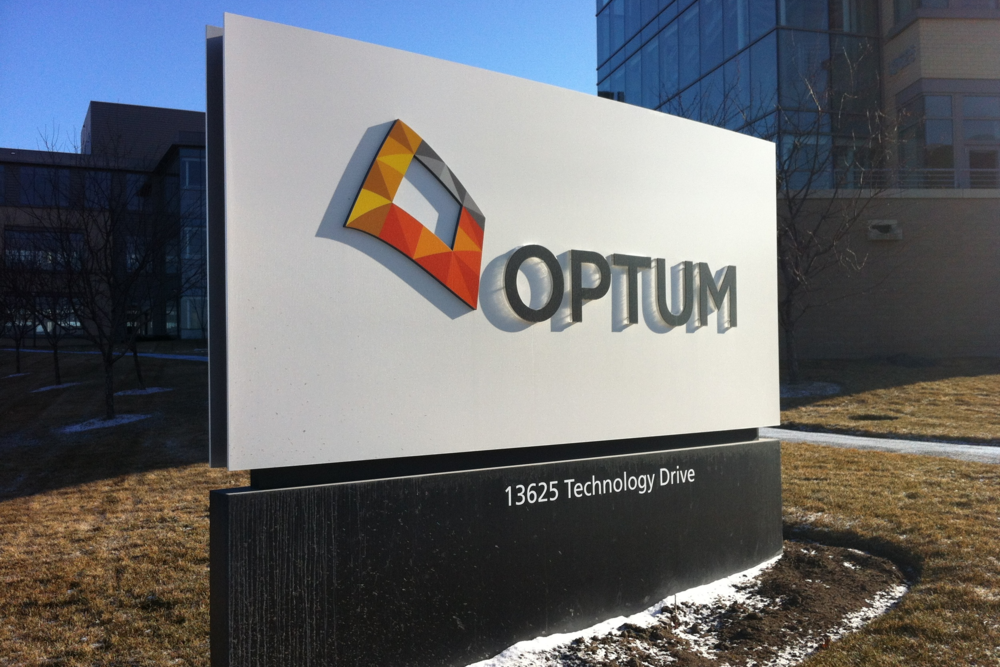 Optum — building sign