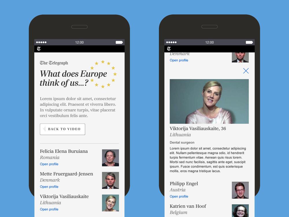 Original mobile designs with profile view