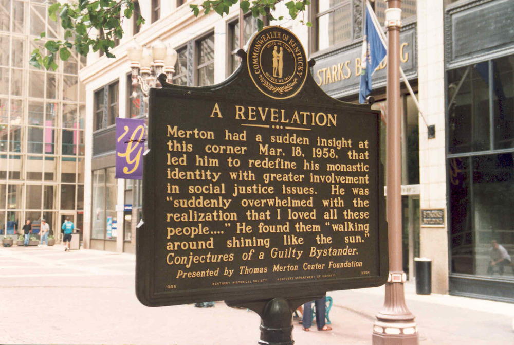 Commemoration of Thomas Merton's epiphany at the corner of 4th & Walnut, Louisville, KY