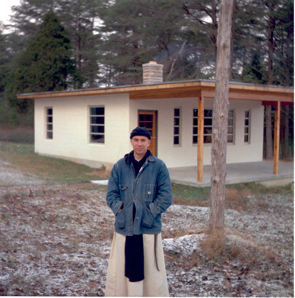 Merton at Hermitage. Used with Permission of the Merton Legacy Trust and the Thomas Merton Center.