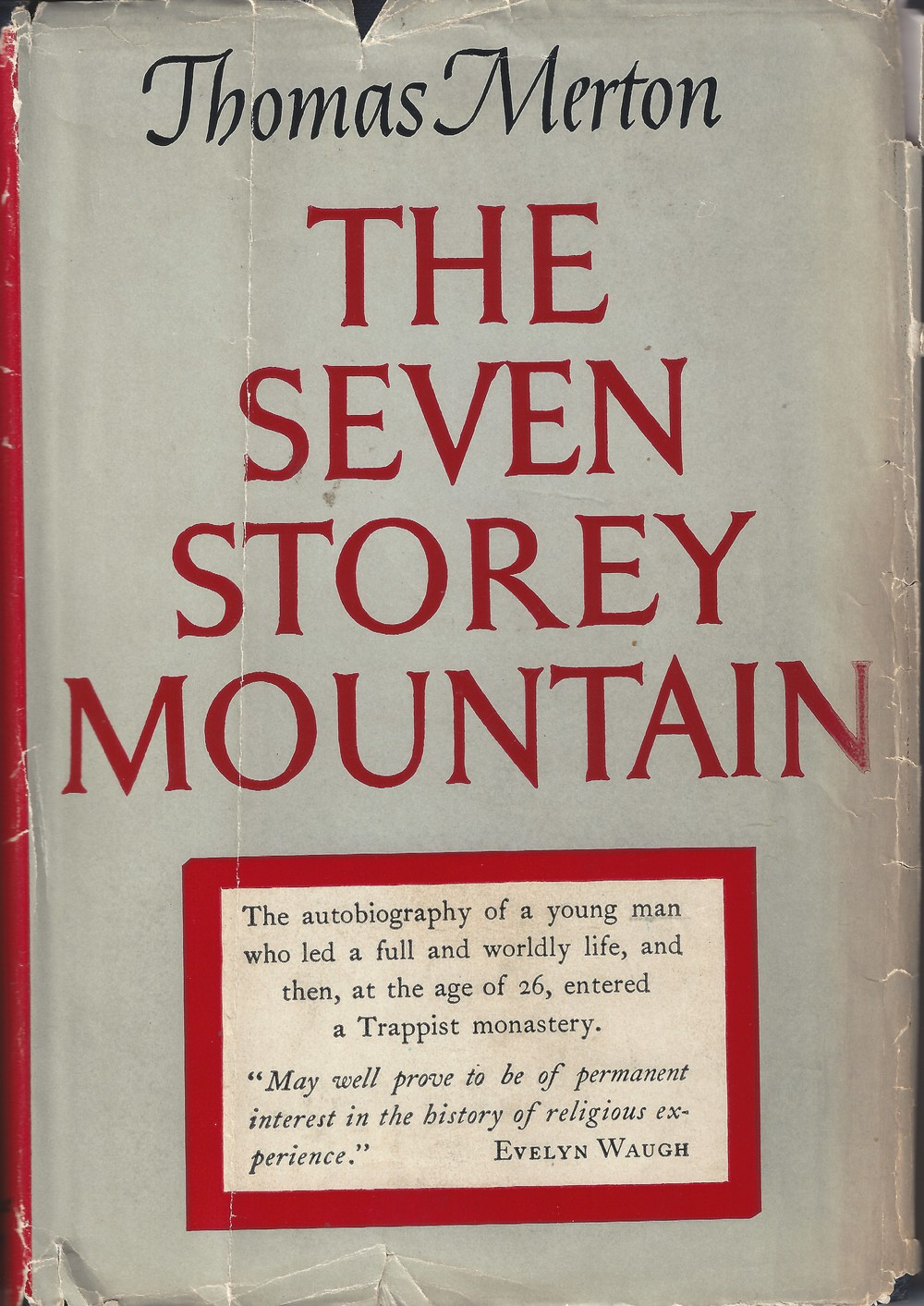 Jacket cover for 1st edition autobiography, 1948, published by Harcourt, Brace & Company