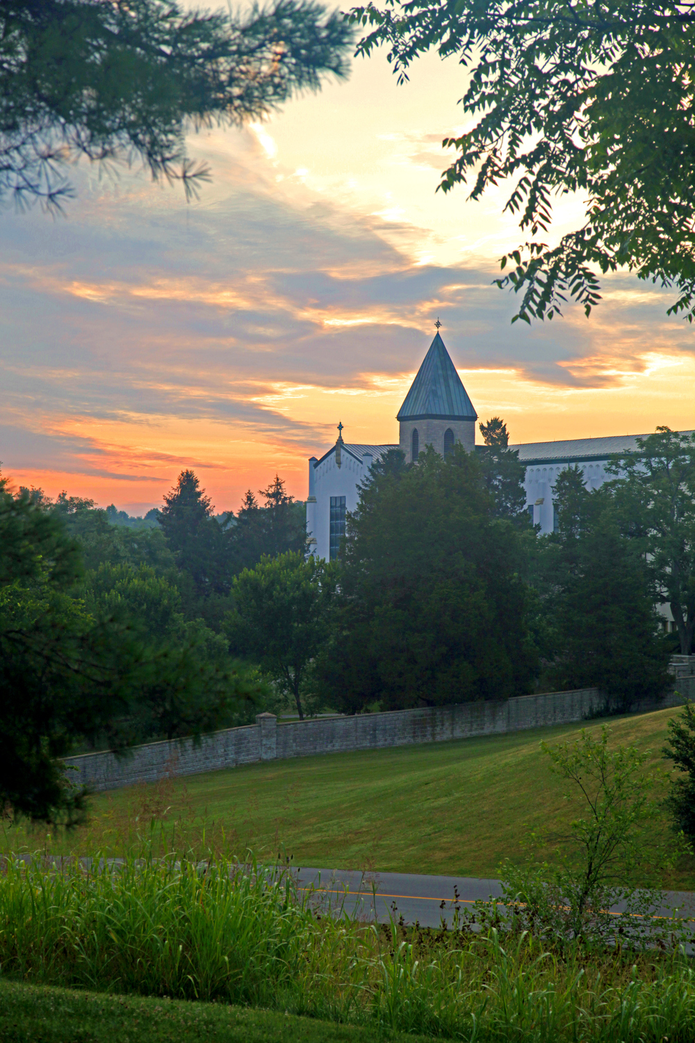 Abbey of Our Lady of Gethsemani Bell Tower at Dawn.