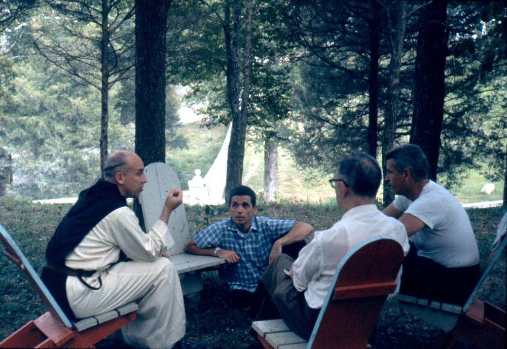 Merton, Walsh, Dan and Phil Berrigan 1962
