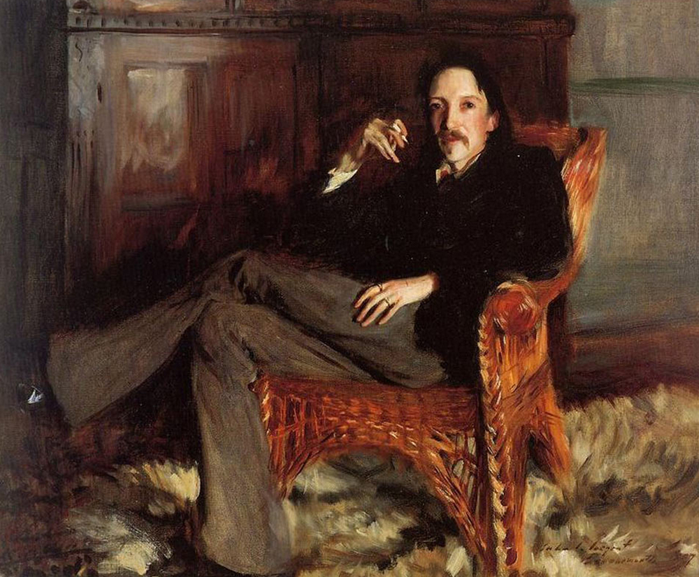 Portrait or Robert Louis Stevenson by John Singer Sargent, 1887 – shortly after the Byron McGuinness affair (picture courtesy of the Taft Museum of Art, Cincinnati, Ohio, photograph by Tony Walsh, Cincinnati, Ohio).
