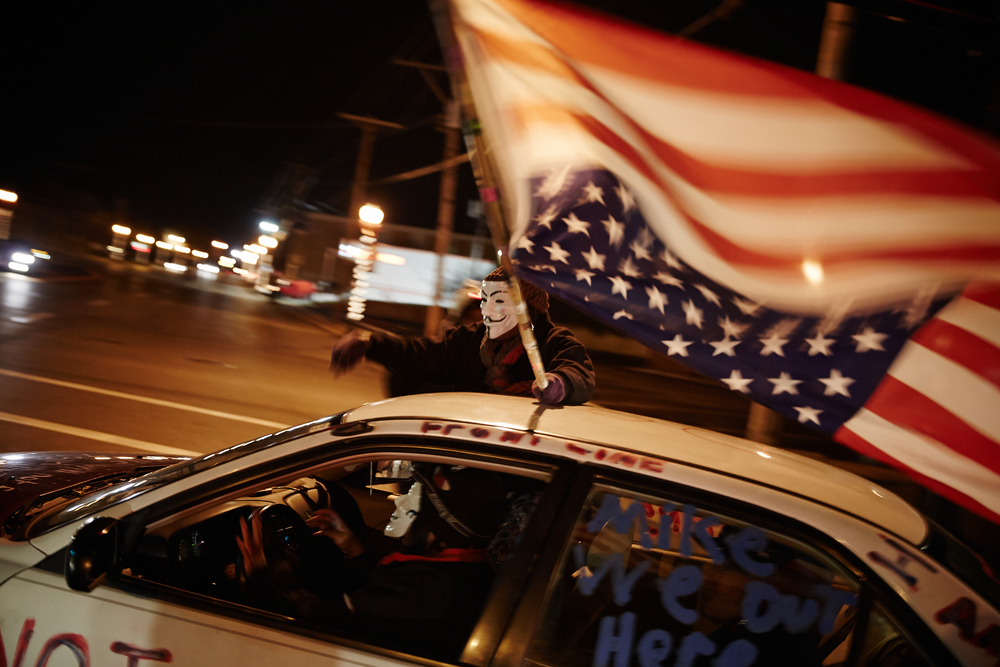 Protests exploded across the country in the wake of the Brown killing (picture © Getty Images).