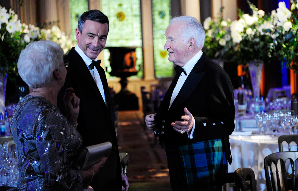 Lord and Lady Mackay with Robert Pirrie at the WS Annual Dinner 2010.