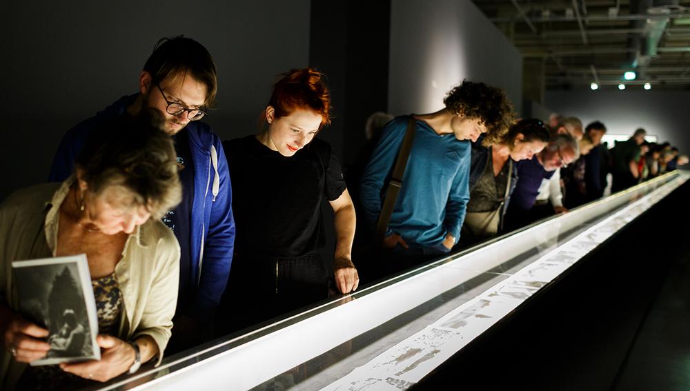 Josef Koudelka,Wall, 2016. Installation view. Photo by Fred Ernst.