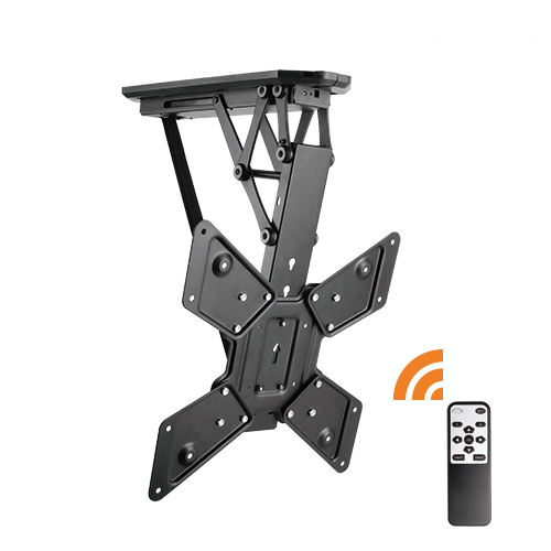 Remote Control Tv Mount remote control motorised flip down tv ceiling mount — lithe audio