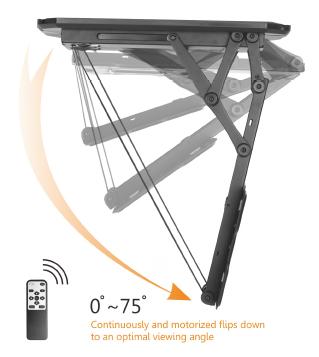 Remote Control Motorised Flip Down TV Ceiling Mount