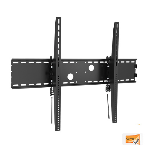 X-Large Heavy Duty Fixed Curved Tilt TV Wall Mount 60-100""