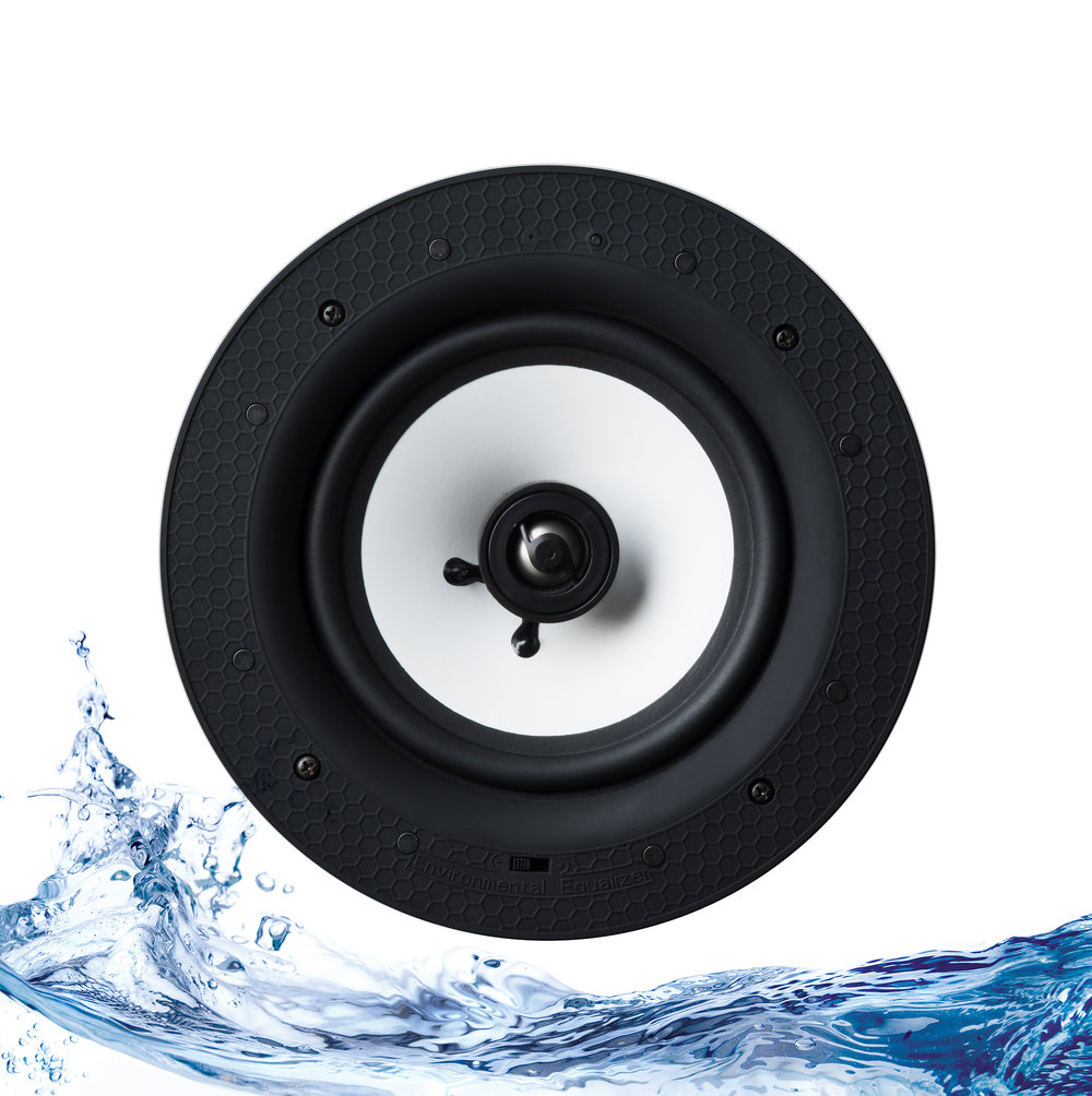 01565_Lithe Audio Bluetooth IP Rated Bathroom Ceiling Speaker_Front Wave