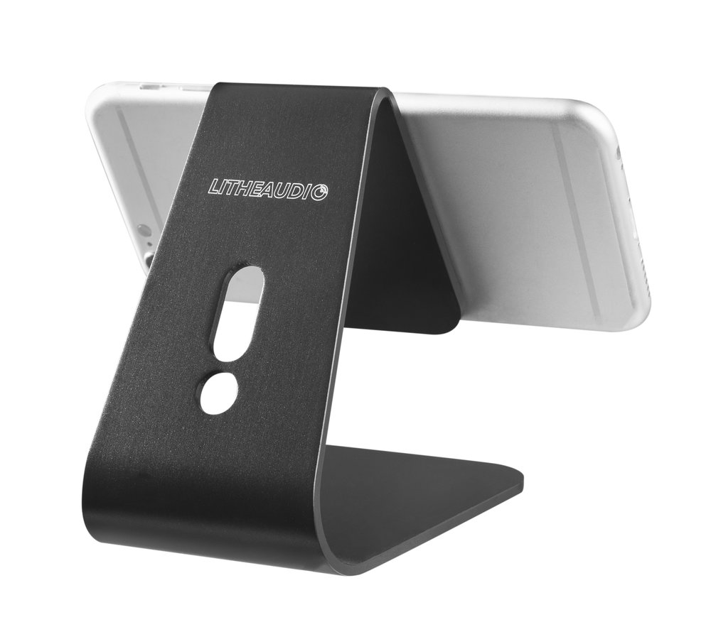 06420_Retrotouch Boutique_Lithe Audio Phone On Stand_Black_Back_Angle.jpg
