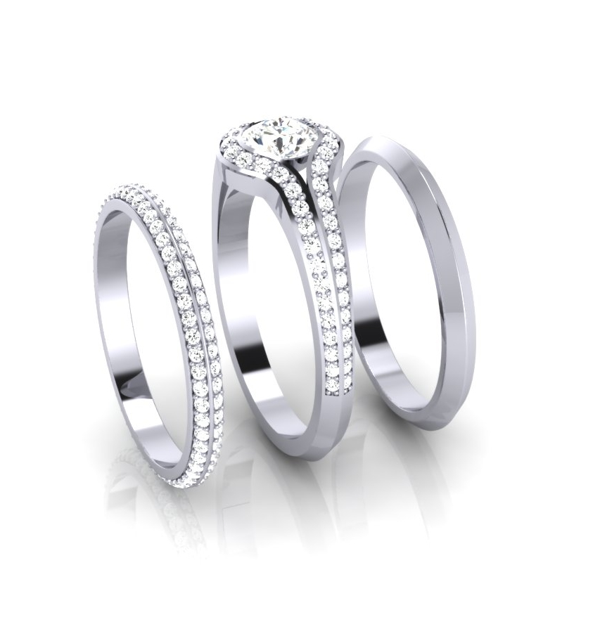 Halo Ring, Full Eternity & Wedding Ring