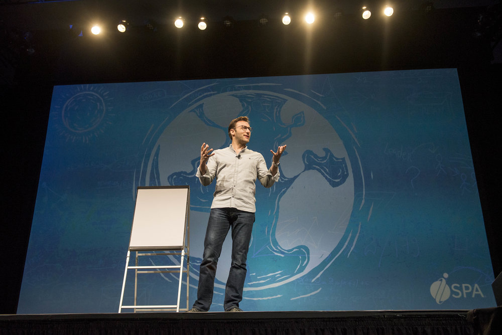 Last day of the General Session--The audience oF 2,000 hung on SIMON SINEK'S every word