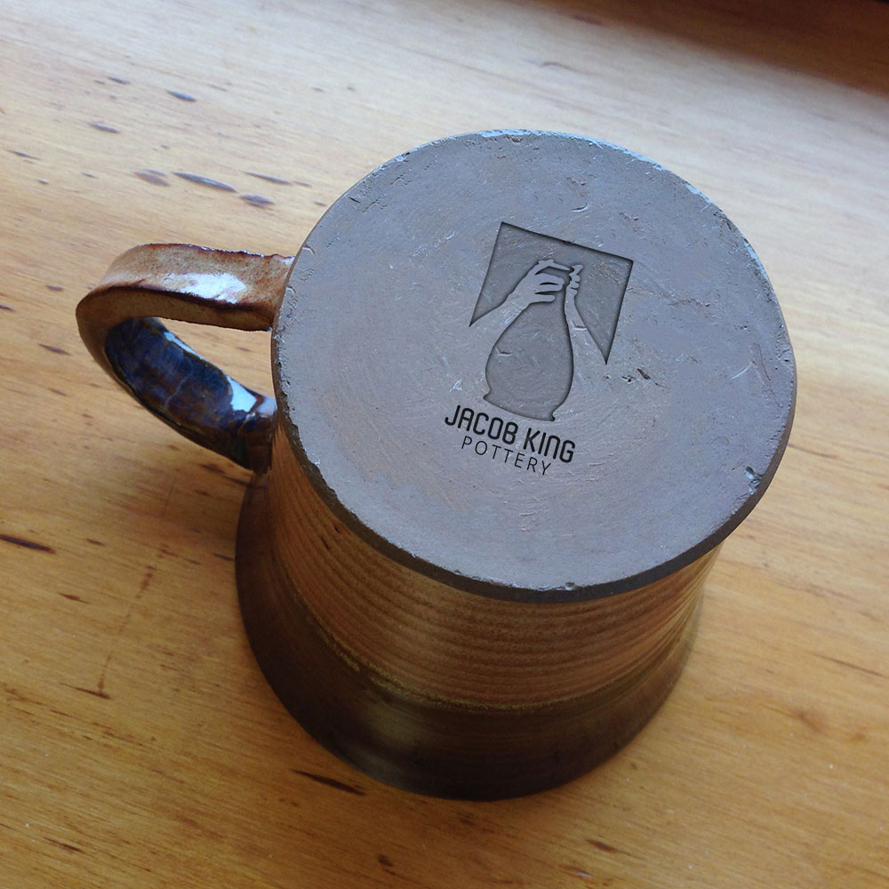 A pottery stamp mock-up