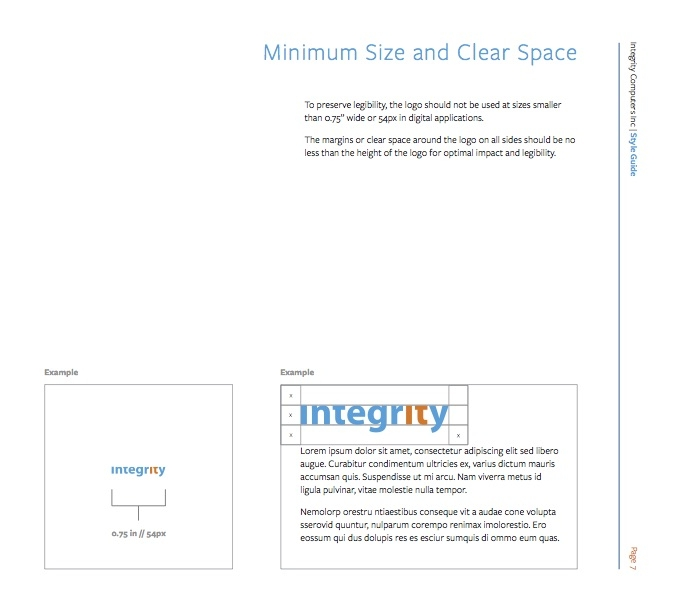 Integrity Computers Style Guide