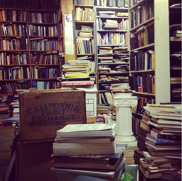 Just a fraction of the stacks that await you at Port Richmond Books.