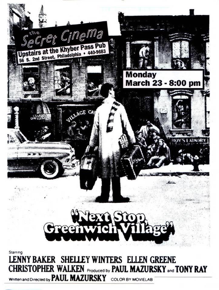 A Secret Cinema flyer from way back in 1992.