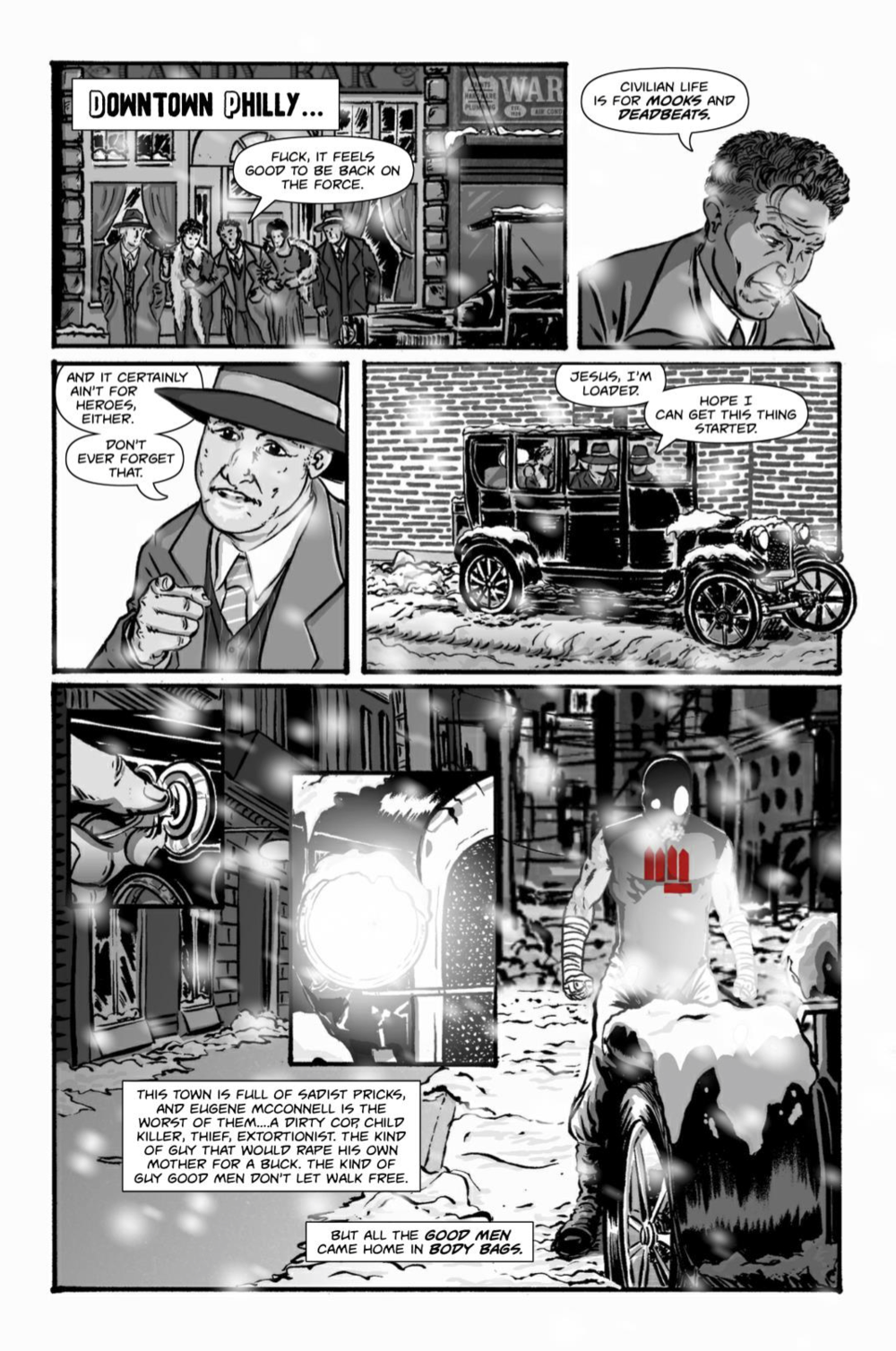 A page out of The Fist, issue #1.